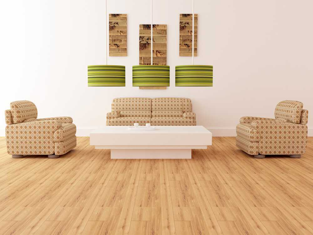 Photo of bamboo floors in living area